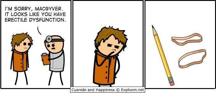 Cyanide and happiness Macgyver funny image