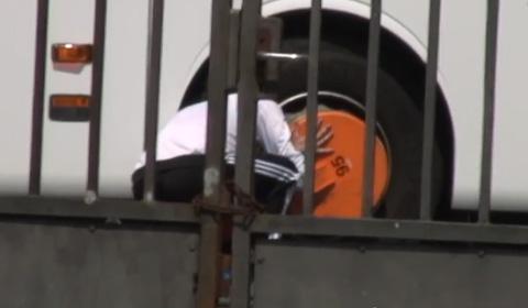 Oranje wielklem spelers bus Duitsland