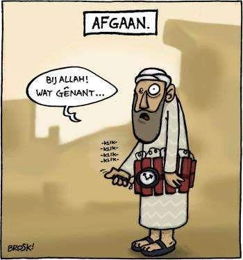 afgaan bij allah zelfmoord terrorist cartoon