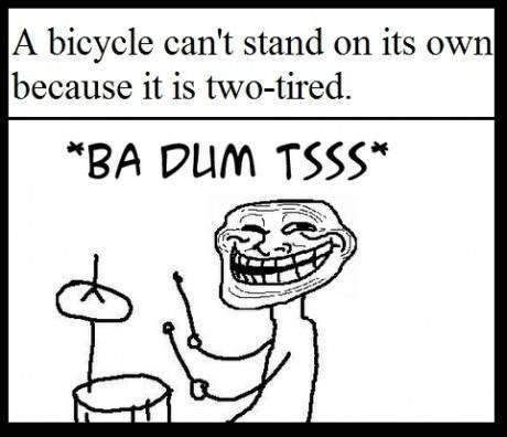 ba dum tssss bicycle joke