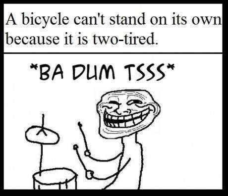 ba dum tssss bicycle joke