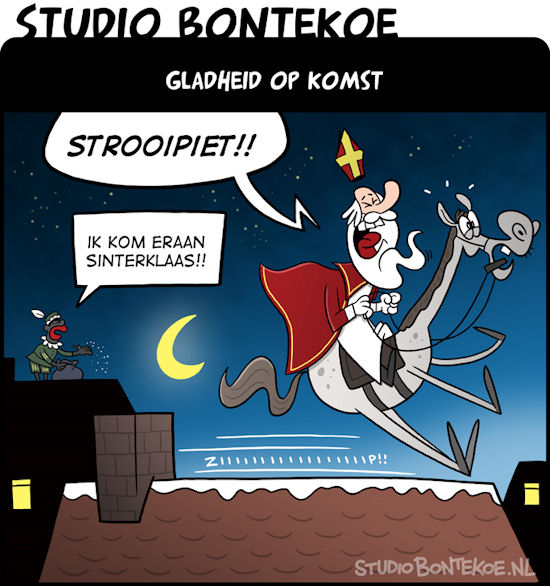 cartoon sinterklaas strooipiet