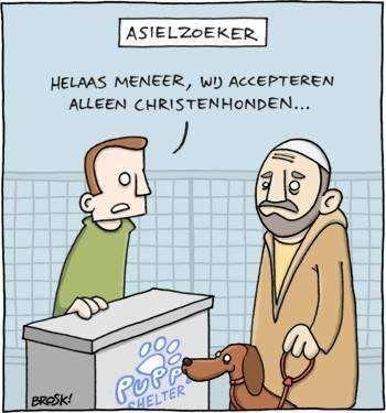 accepteren geen christenhonden cartoon
