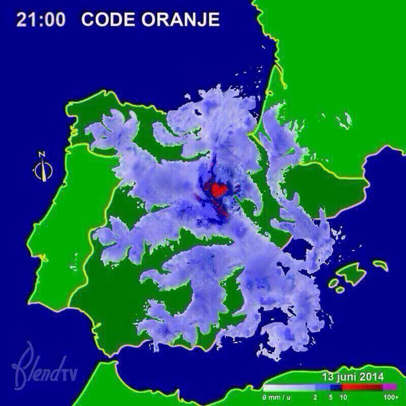 Code Oranje leeuw boven spanje wk2014