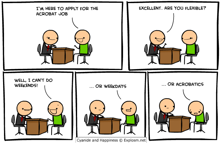 Cyanide and happiness acrobatic
