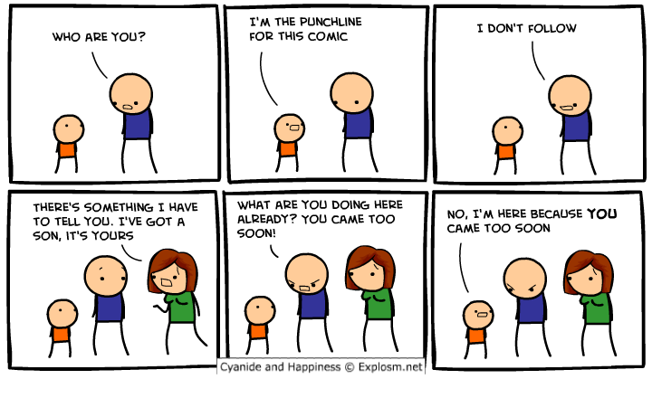 came too soon cyanide and happiness comic