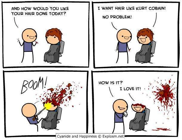 Haircut cyanide and happiness