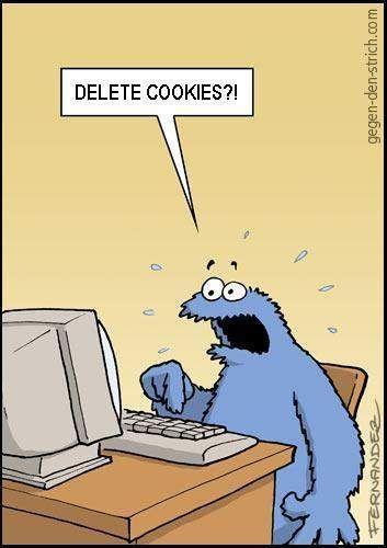 Delete cookies funny image cookiemonster