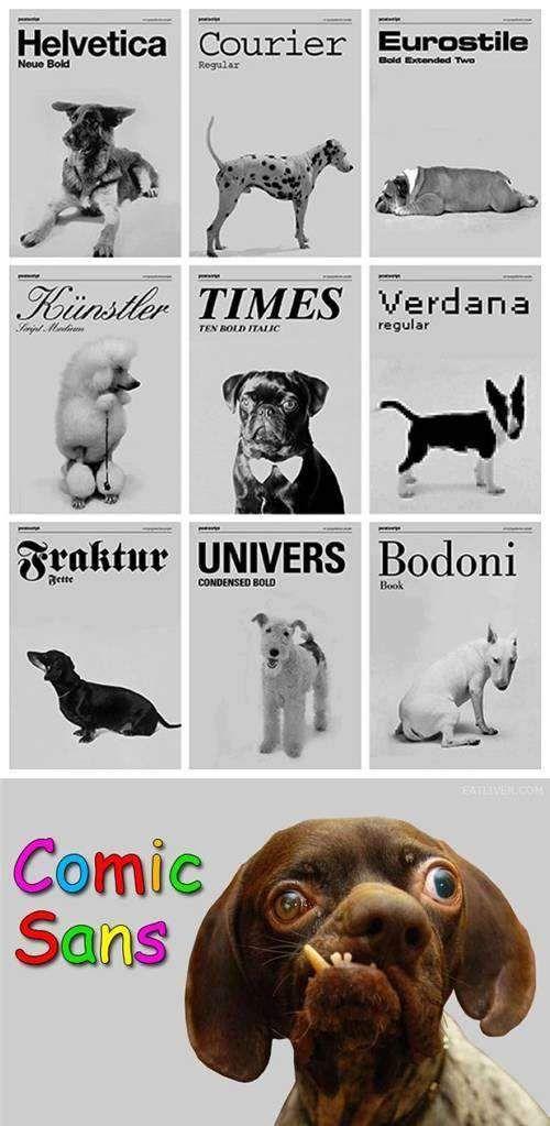 dog fonts