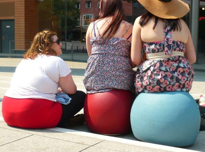 Fat girl sitting