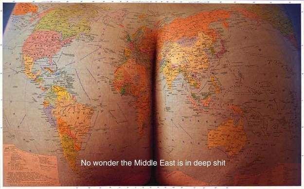 grappige plaatje wereldkaart