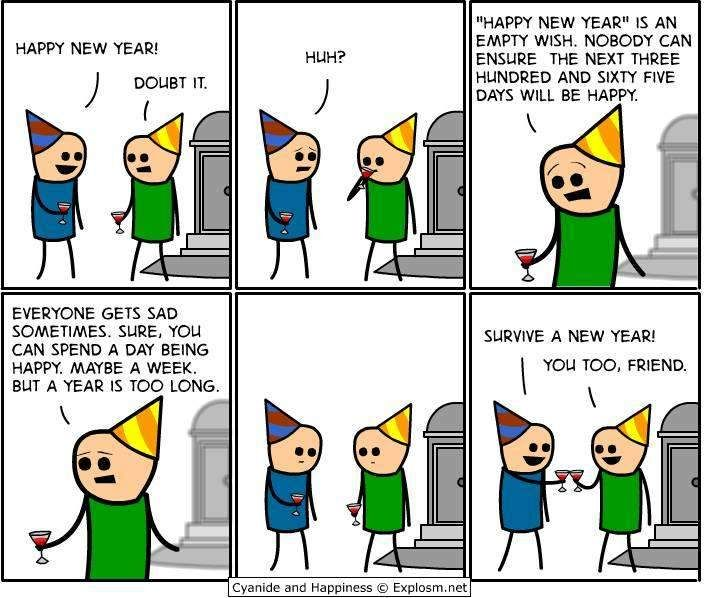 Happy new year comic cyanide and happiness