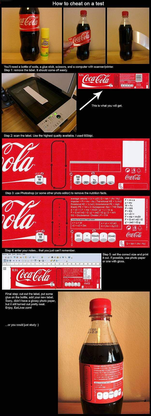 how to cheat funny image cola bottle