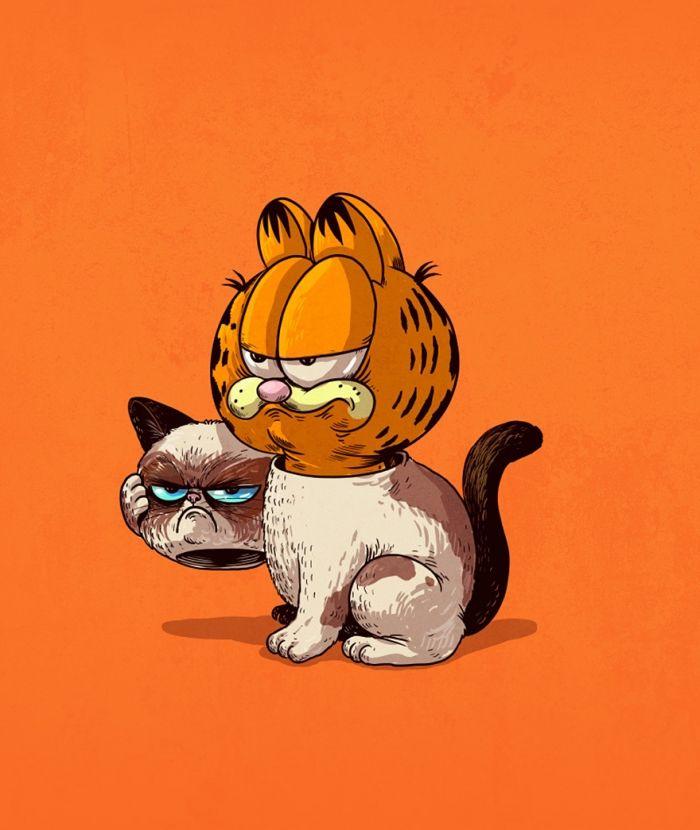 Grumpy Cat is stiekem Garfield