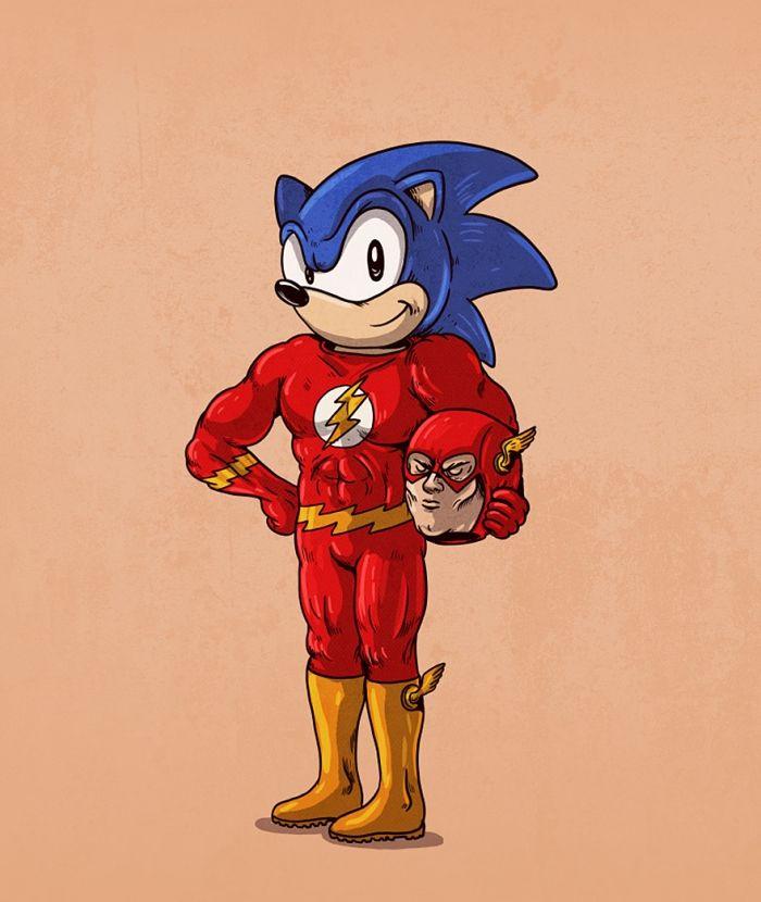 Sonic in The flash costuum