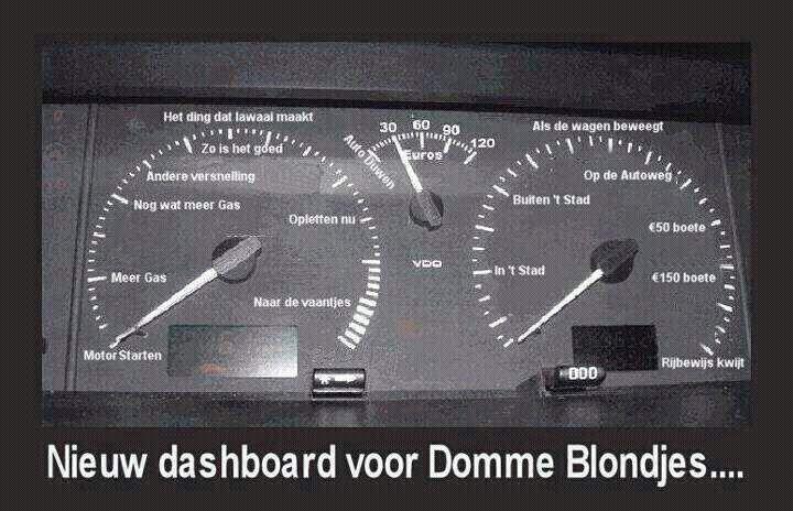 Nieuw dashboard voor domme blondjes