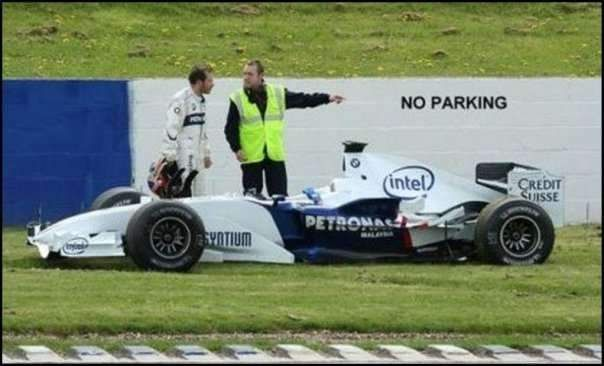 formula 1 no parking funny picture