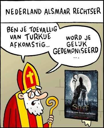 Sint de film door Dick Maas cartoon