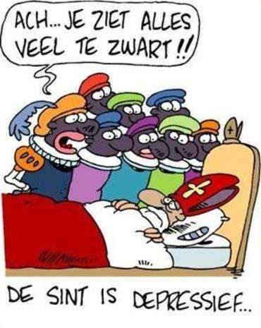 sint depressief cartoon