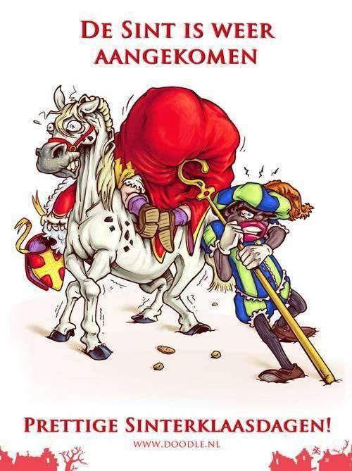 Sinterklaas cartoon aangekomen