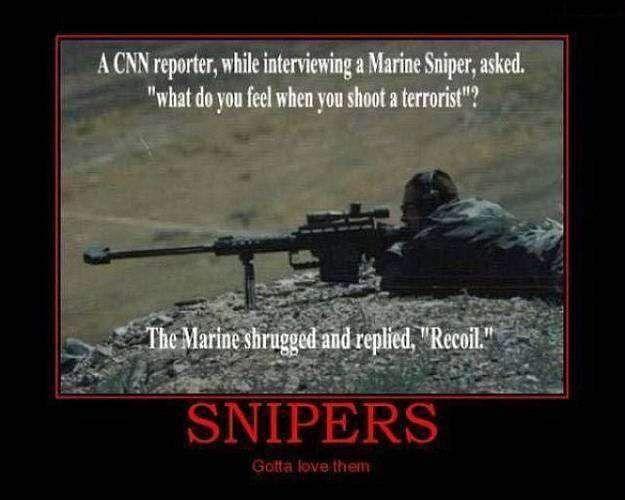 sniper cnn reporter funny image