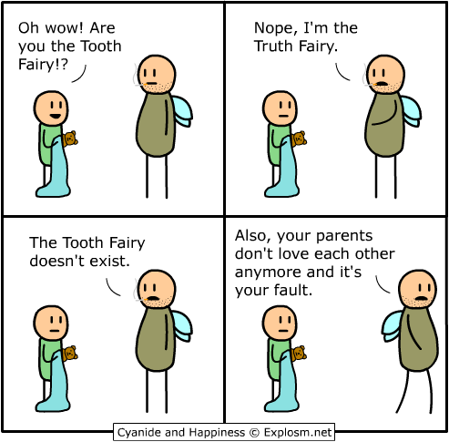 truth fairy cyanide and happiness cartoon