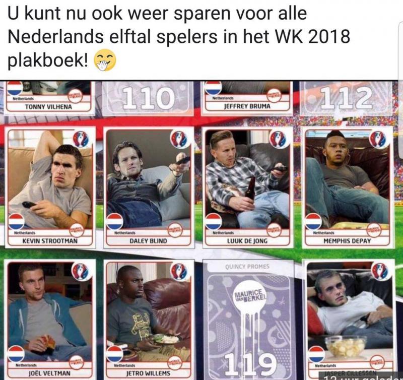 WK 2018 Nederland mop