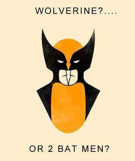 Wolverine of 2 batmen funny image